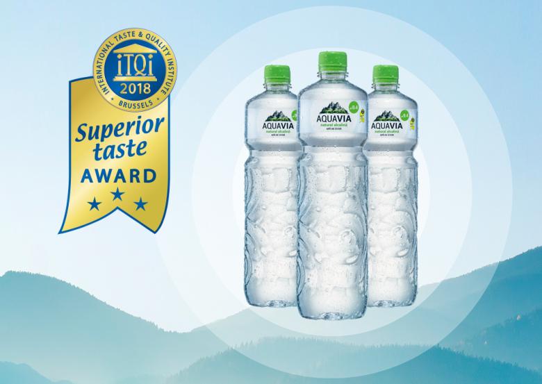 AquaVia gehuldigd met de Superior Taste Award
